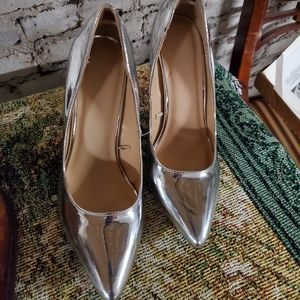 Wild Diva Shoes - Silver high heels wild diva shoes size 7.5